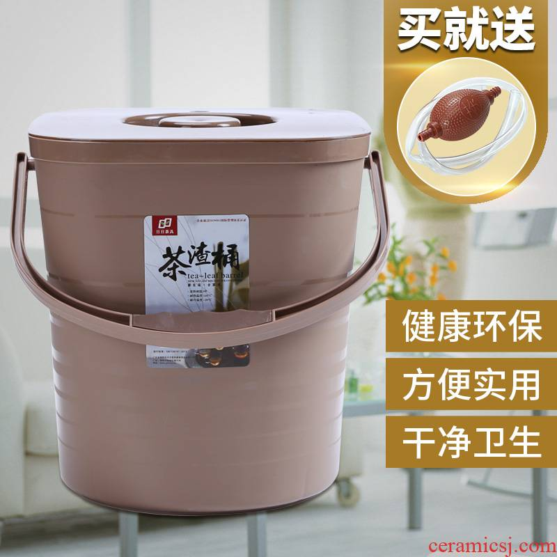 Auspicious industry kung fu tea accessories in hot tea barrel plastic bucket of tea sets of trash as cans of household wastewater discharge bucket