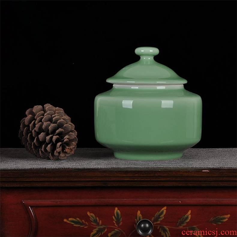 Scene, jingdezhen ceramics ceramic bean investment jar caddy fixings candy jar home crafts