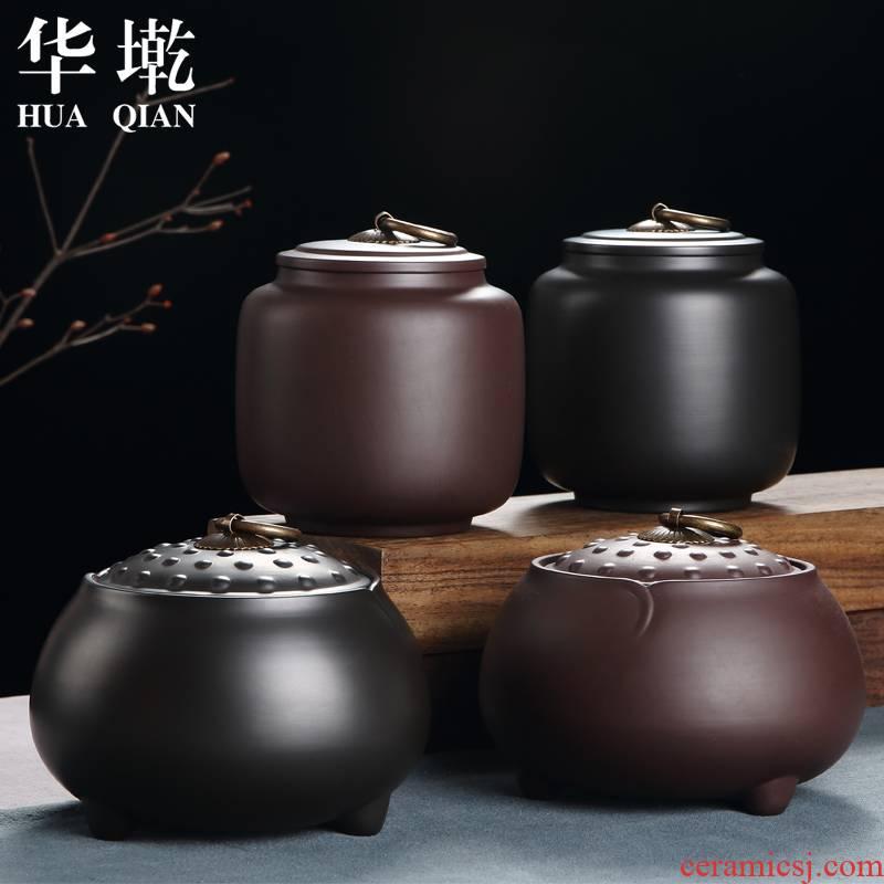 China Qian violet arenaceous caddy fixings yixing POTS storage pu seal loose tea tea storage box of large size manual kung fu tea set