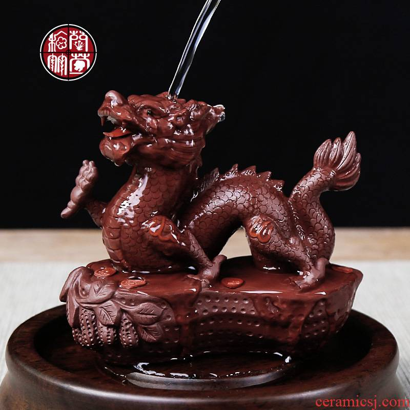 Pet dragon purple sand tea to keep lucky office furnishing articles fine checking tea zen tea table decoration decoration gifts