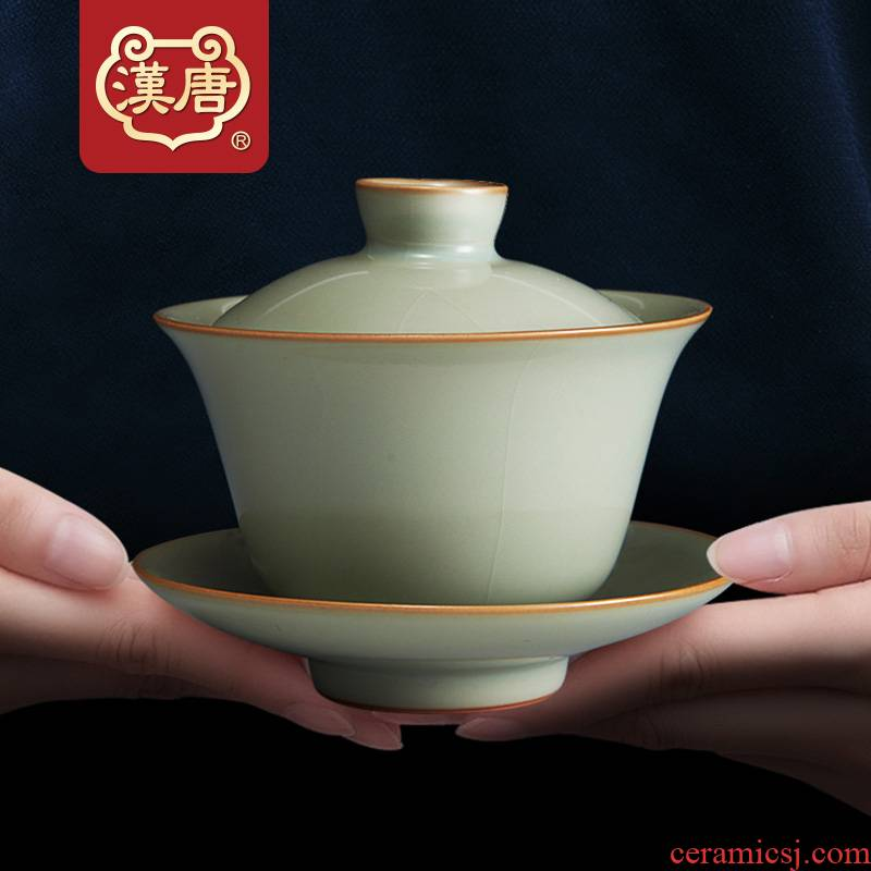 Han and tang dynasties manually open the slice your up tureen jingdezhen family kung fu tea set to restore ancient ways large bowl