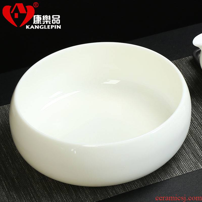 The Process for recreation character white porcelain large dry tea is tea wash tea accessories, after the wash water jar cup