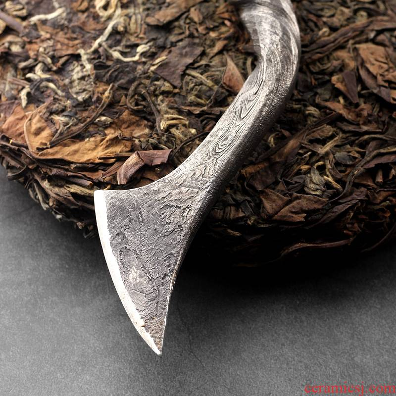 Longquan tea hundred steel knife manual forging tea cake tea tool casting Longquan sword technology opener spare parts
