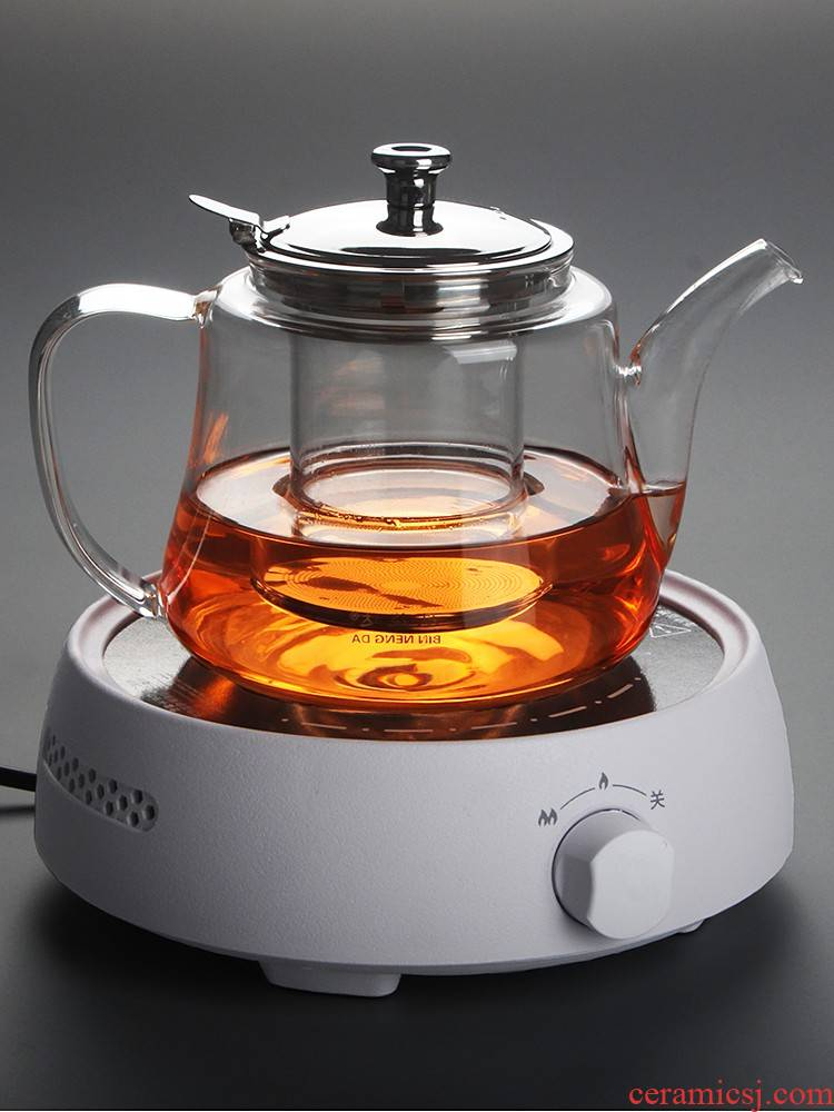 Thickening of the heat - resistant glass tea sets heated up boiled tea stove cooking pot teapot glass pot of preserve one 's health