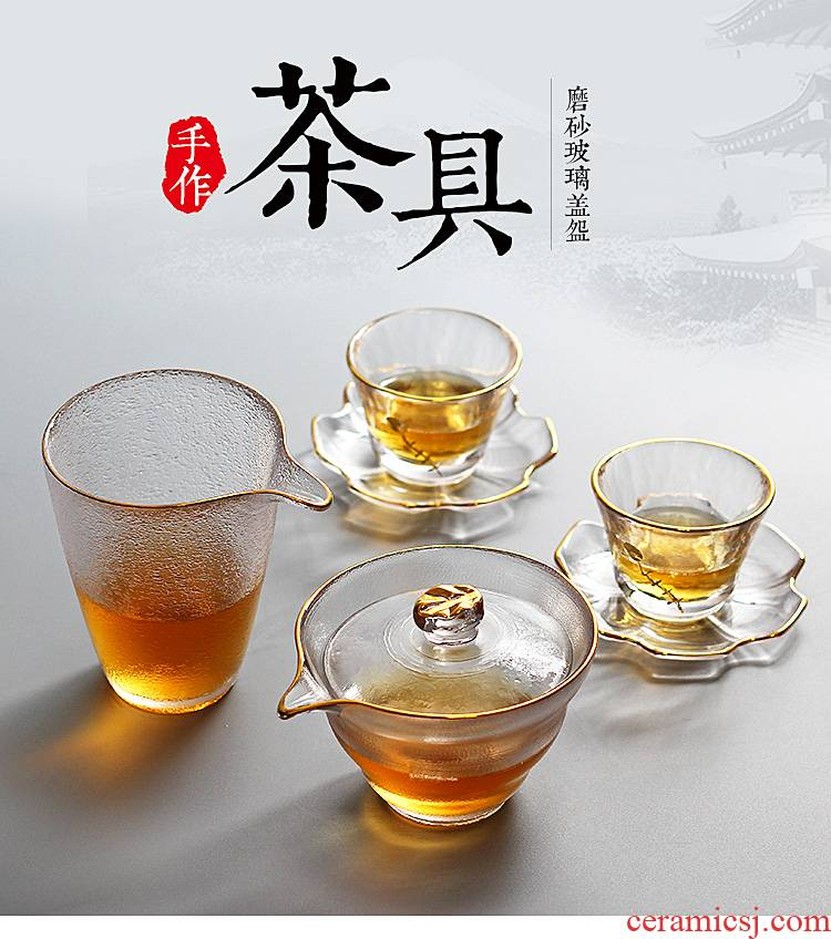 Japanese hammer first snow tureen tea fair hand grasp pot of tea cup a pot of travel four cups of kung fu tea set