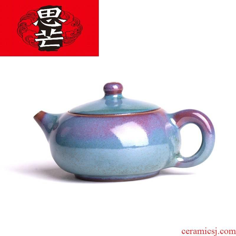Master thinking mans jin jun porcelain pot inclusive WenHongYuan checking ceramic teapot masterpieces kung fu tea tea mercifully