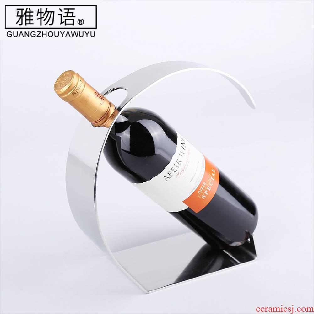 Jas monogatari stainless steel wine racks wine furnishing articles creative display bottle home European wine rack