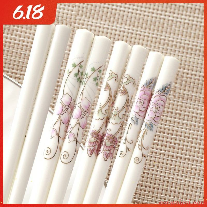 Key-2 Luxury European - style web celebrity home high - grade suit ipads porcelain ceramic chopsticks chopsticks non - slip mildewy high - temperature away quickly