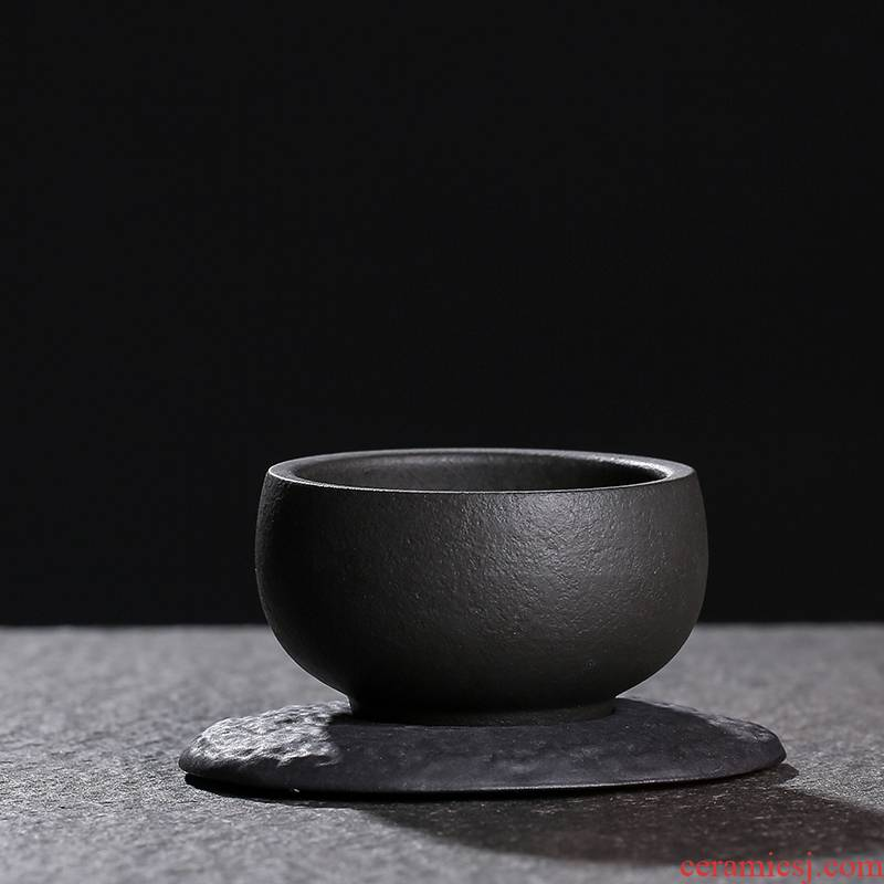 JiaXin lava rock - cup sample tea cup individual CPU master cup small round cup of kung fu tea cup mat