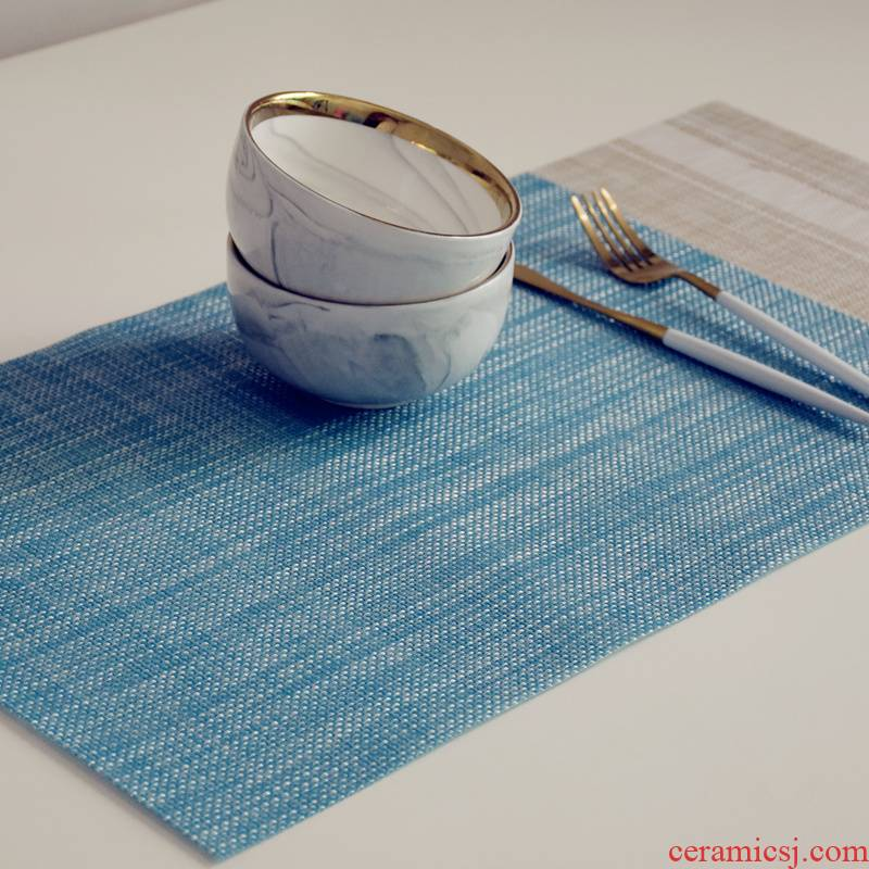 Nordic western - style food table MATS PVC insulated pad as against the hot dish bowl meal cloth cup mat mat tableware children take photos