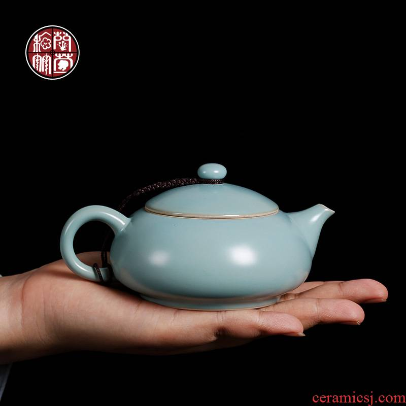 By patterns by hand your up slicing can raise ceramic teapot small single pot of household kung fu teapot small capacity