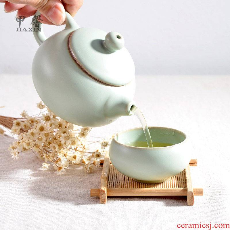JiaXin your porcelain tea set kung fu tea set a pot of two cups of tea of a complete set of Japanese imitation song dynasty style typeface your up open tea set