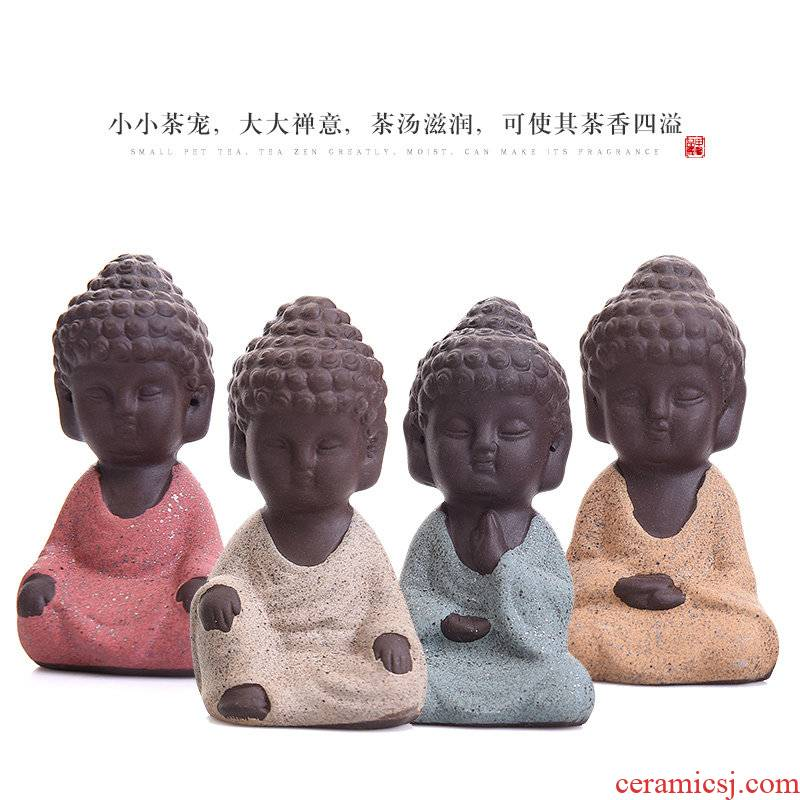 JiaXin see colour sand spoil the young monk kung fu tea set creative manual ceramic tea to keep playing tea tea accessories small place
