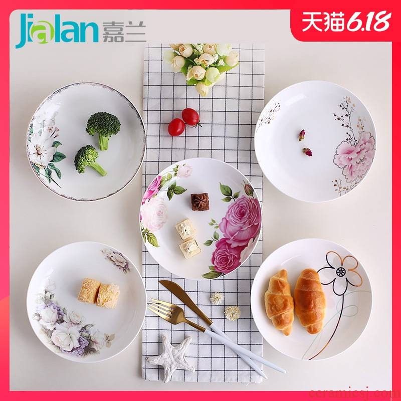 Garland ipads China 7 inches deep dish FanPan creative ceramic round small plate household of Chinese style western - style food dishes food dish