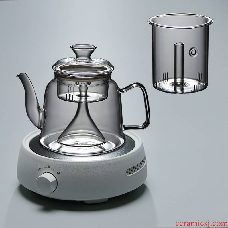 Boil tea ware steaming kettle transparent glass teapot high - temperature cooking pot thickening electric TaoLu tea home