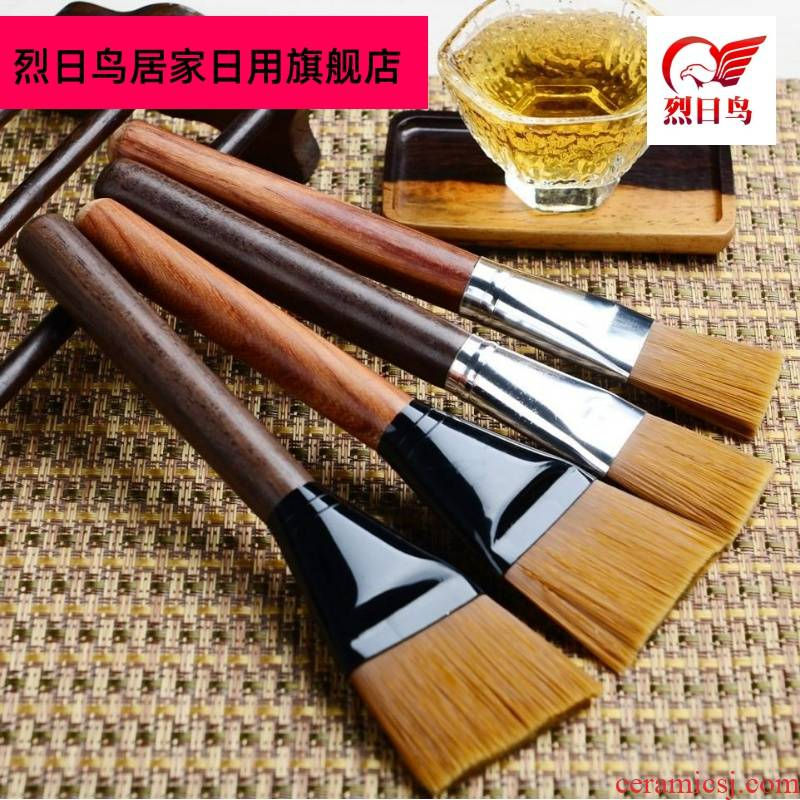 Kung fu tea set brush tool water tea tea table ebony flat brush wash not to drop the brush brush brush pen furnishing articles