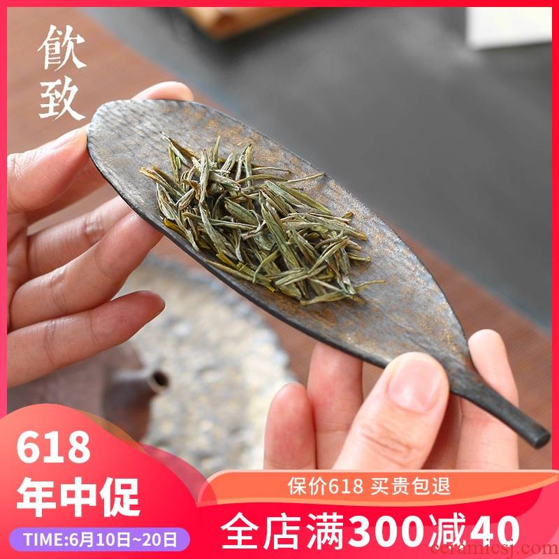Ultimately responds to coarse pottery zen tea is ceramic tea spade gold points teaspoons 6 gentleman enjoy tea holder, Japanese tea set spare parts