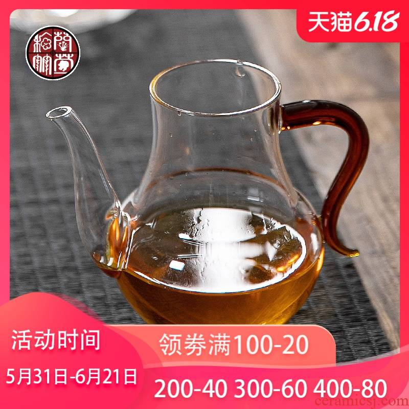 Glass tea set fair keller single thickening transparent from the points of tea with pour hot narrow large cups