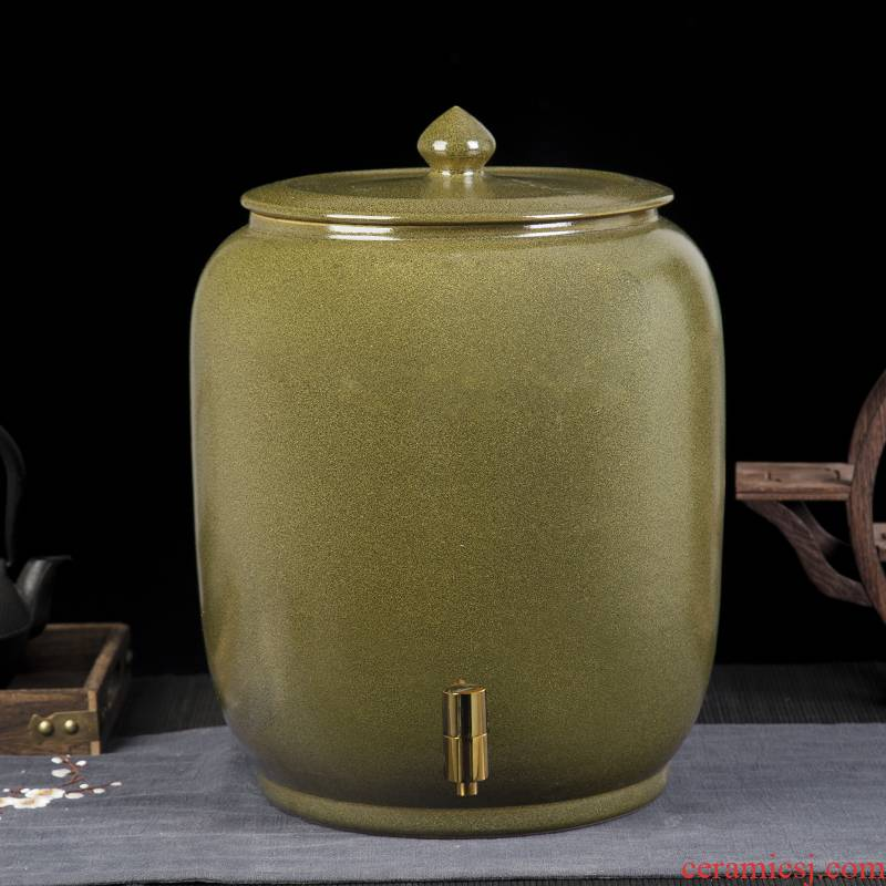 Jingdezhen ceramic tank jars make it home brewing liquor jar cylinder 20 jins 30 jins of 50 pounds with cover