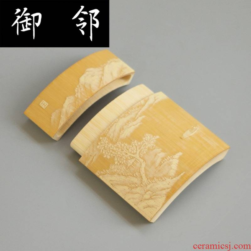 What What zj had had carved jade bamboo dongyang stay green cigarette pack eight collectables - autograph tea pets play with bamboo carving crafts tea set