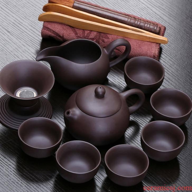Pro tea tea set suit high - end violet arenaceous household office to receive a visitor the teapot teacup violet arenaceous kung fu tea