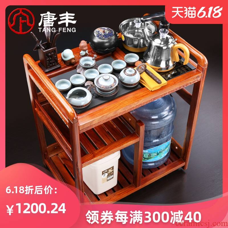 Tang Feng hua limu tea car mobile kung fu tea set contracted and I real wood wings sharply stone ground tank suit