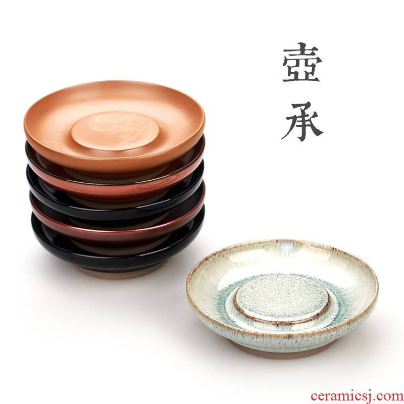 Variable contracted ceramic teapot storage tray square pot of tea accessories bearing coarse pottery tea tea tea tray was it dry
