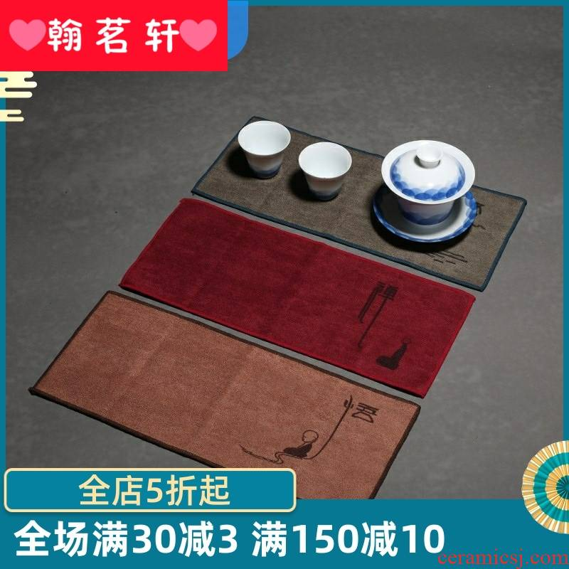 Tea towel water thickening Tea table what cotton towel cloth kung fu Tea Tea tray accessories specialized hotel table MATS products