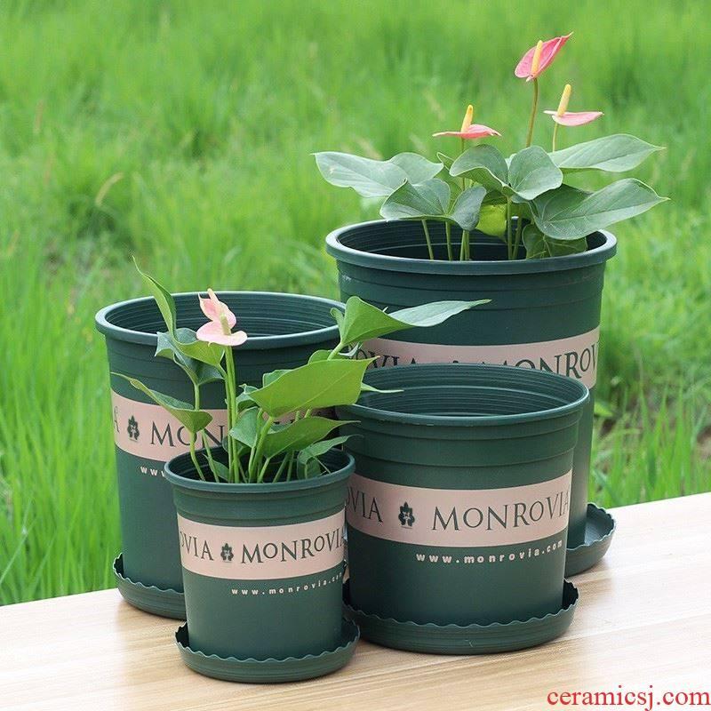 Clay plastic flower POTS with special price increasing indoor bracketplant coarse pottery pot scene creative balcony ground diameter