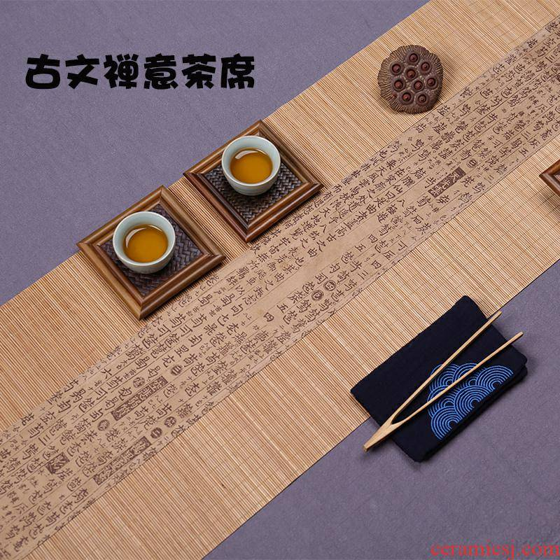 The Table flag Chinese zen tea bamboo mat bamboo curtain tea tea tea tea tray mat mat insulation tea accessories w