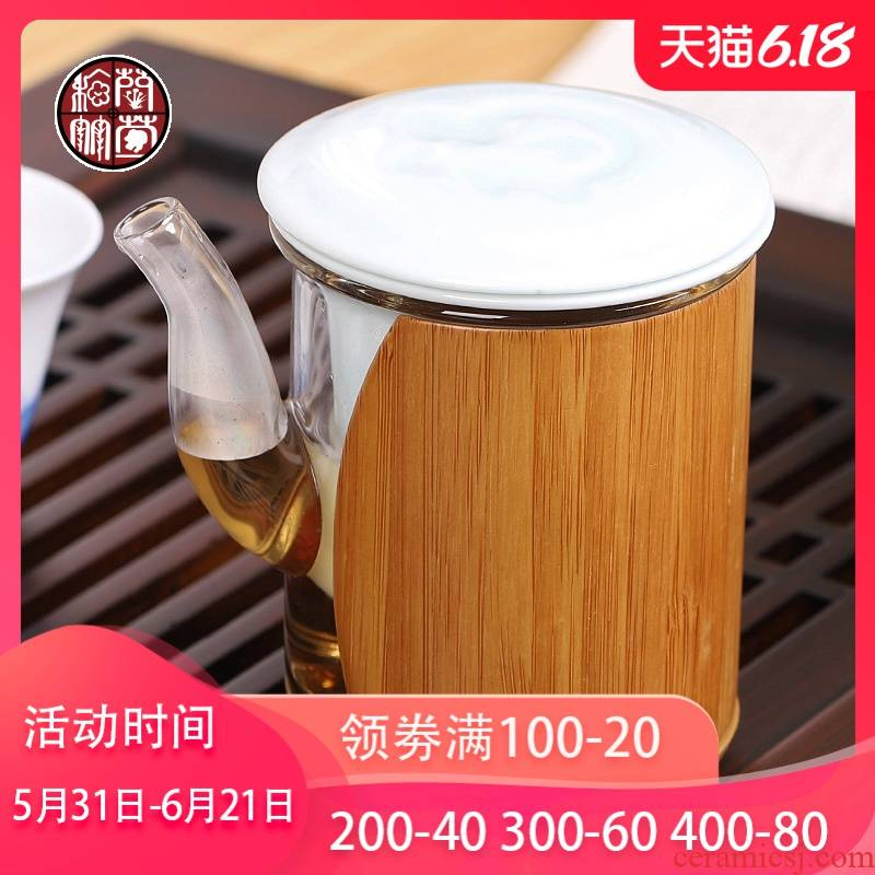 Glass filter red single creative ceramic cups bladder teapot household bop transparent iron kunfu tea with tea