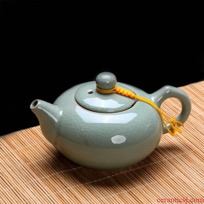 Elder brother up xi shi pot of ice to crack the teapot kung fu tea set single pot of individual household ceramics trumpet large congou teapots