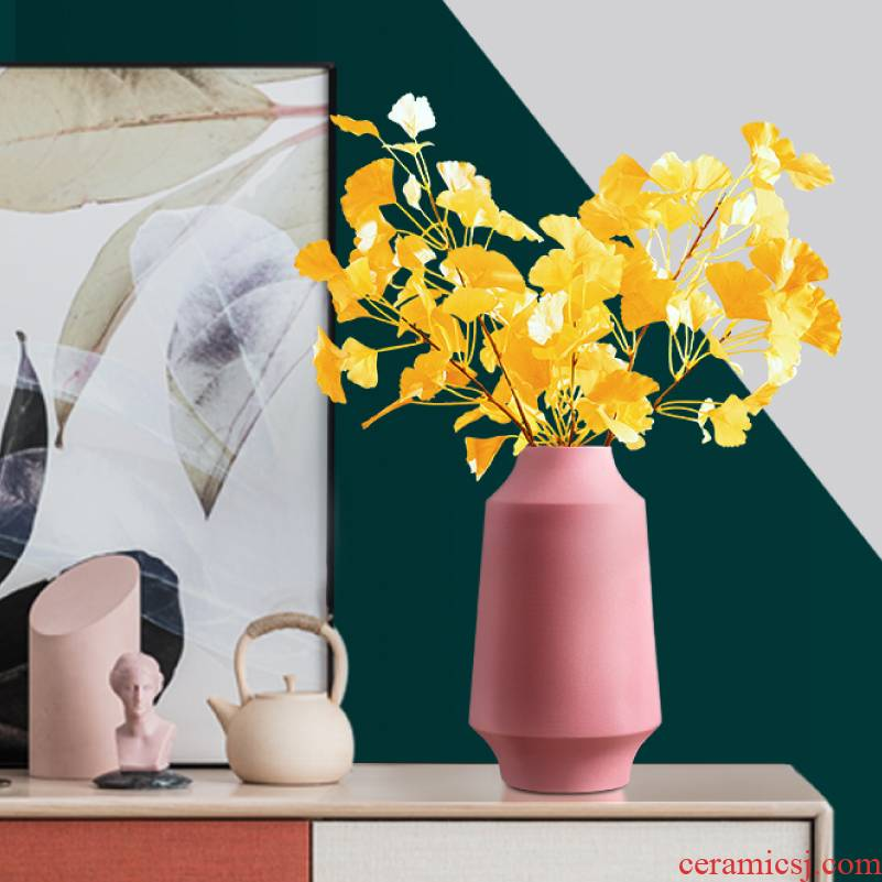 Morandi ceramic table dry flower vase furnishing articles Nordic creative flower arranging the sitting room, TV ark, adornment is contracted