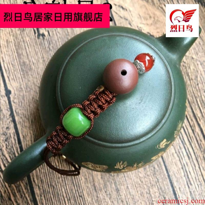 High - end lid rope kung fu tea it teapot cover rope fastened pot of rope tied a rope cup pot of pure hand w
