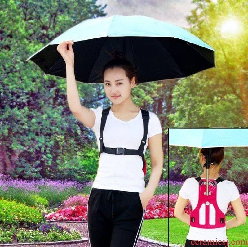 . Can type straps folded umbrella sun umbrella umbrella shoulders is prevented bask in vinyl umbrella fishing crudeness, is suing umbrella back