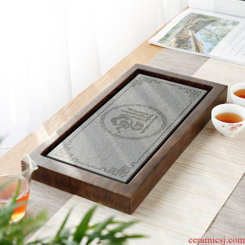 Small tea table solid wood home ground tea stone tea tray was sea contracted kung fu tea accessories mini