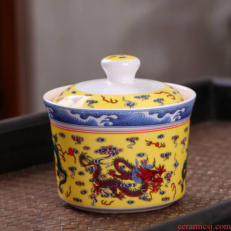 Ceramic bird 's nest soup stew stew with cover every water tank steamed egg cup size soup bowl bowl of stew pot