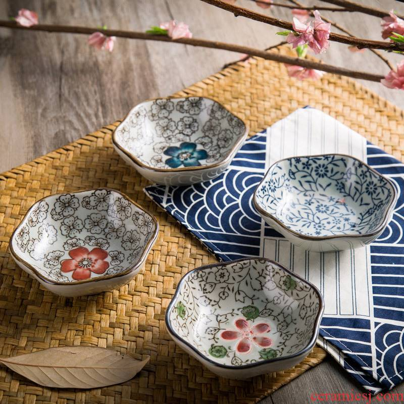1 Japanese and wind ceramic dip quincunx flavour dish taste seasoning sauce dish dish dish dish dish vinegar sauce dish dish dish