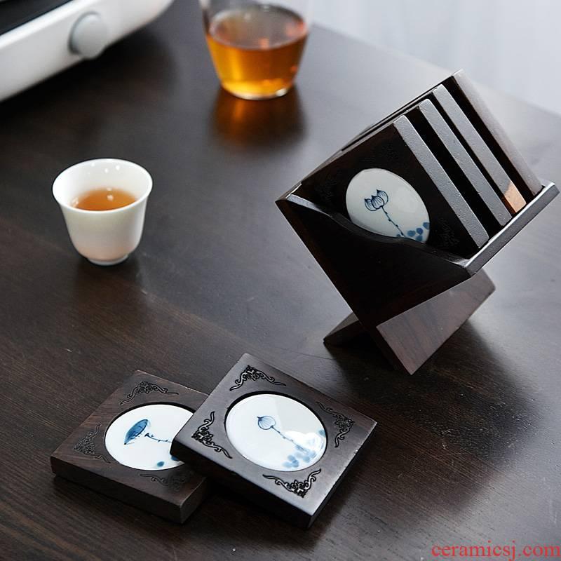 Into the cane top service up monkey cup mat iron pot insulation pad kung fu tea set accessories pot of tea tea tea mat cup