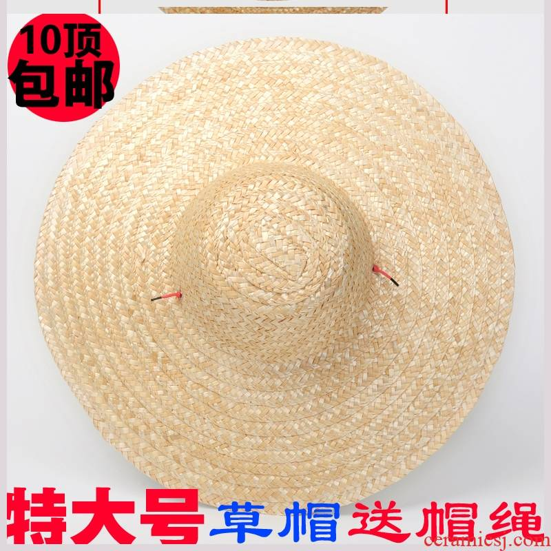 Farmers straw hat with the men and women decorative bamboo has cap large bamboo and bamboo has rain hat hat to pick tea