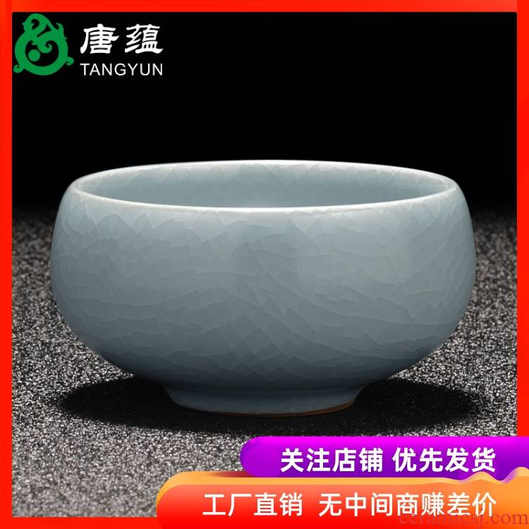 Your up cup sample tea cup large single CPU can keep ceramic master cup household kung fu tea tea elder brother up slicing