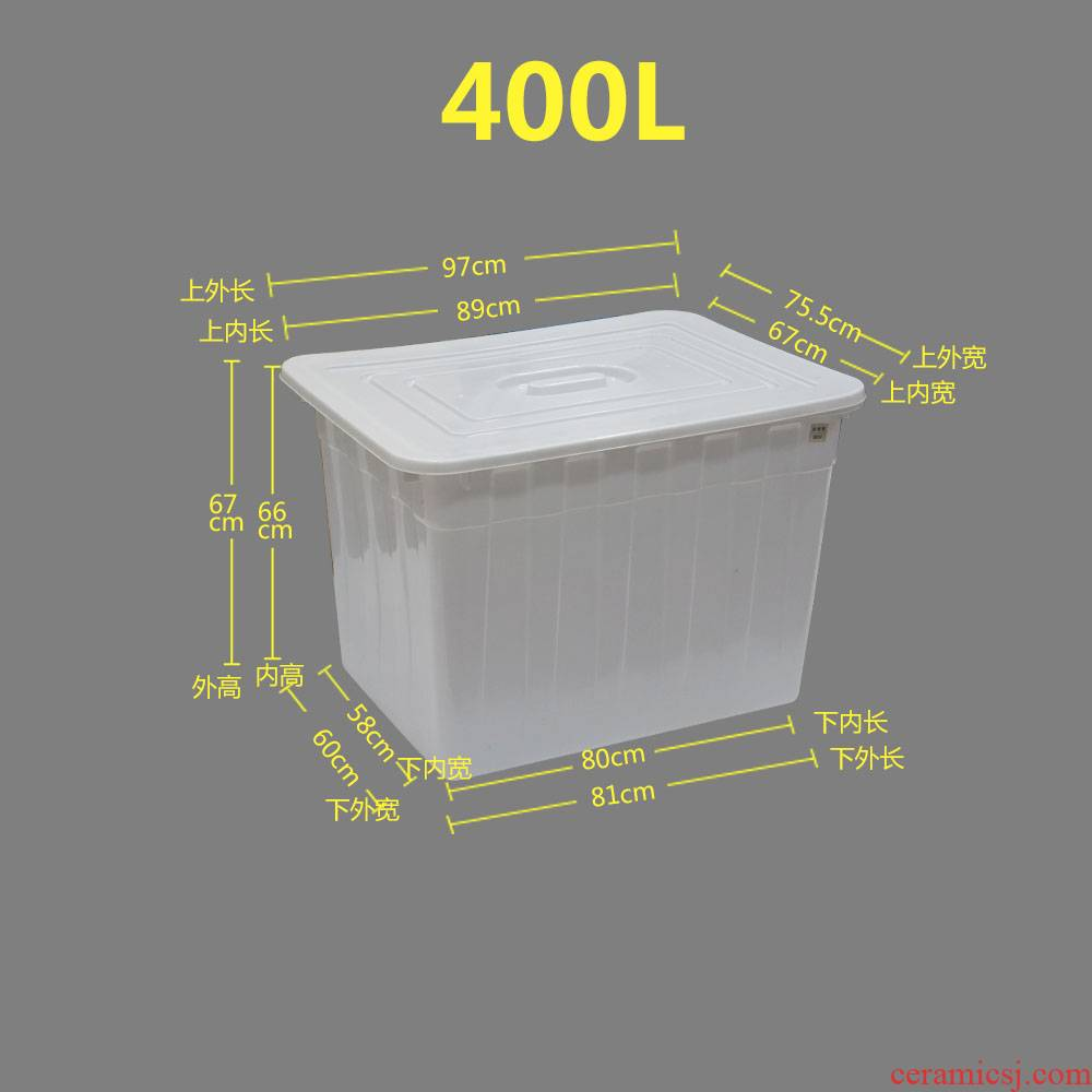 With cover plastic water tank With thick terms ceramic tile store aquaculture fish keep turtle king turnover bucket a rectangle