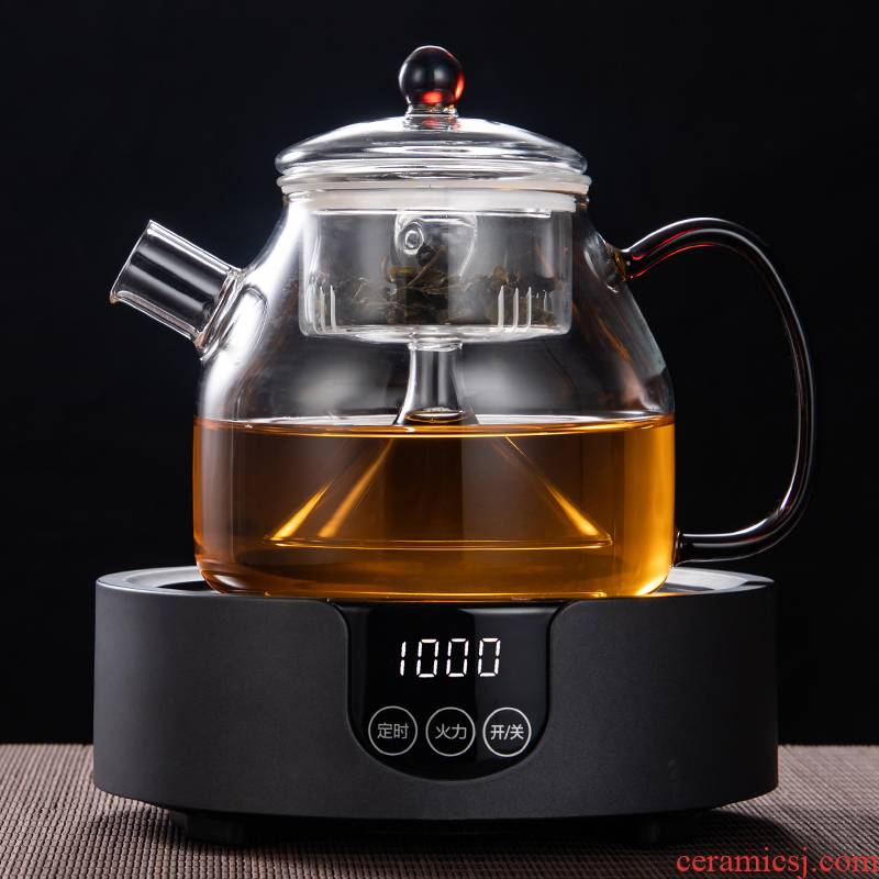 High temperature resistant glass steaming pot the boiled tea, the electric TaoLu burn boiled tea suit household cooking pot small furnace