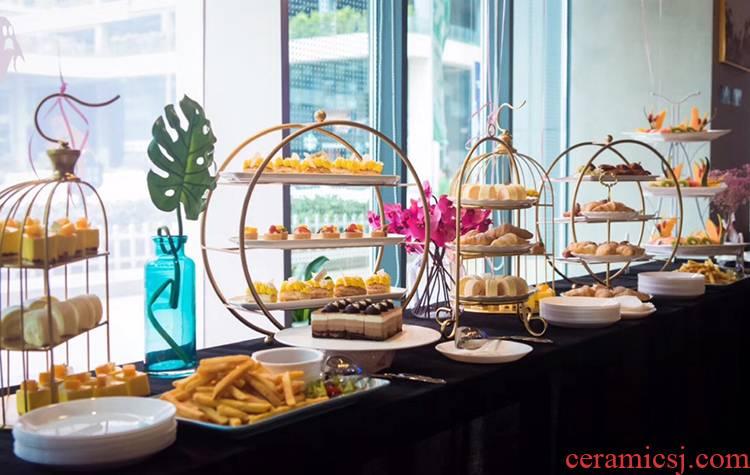 European style afternoon tea three dim sum buffet cake aircraft dessert table place hotel buffet dessert display shelf