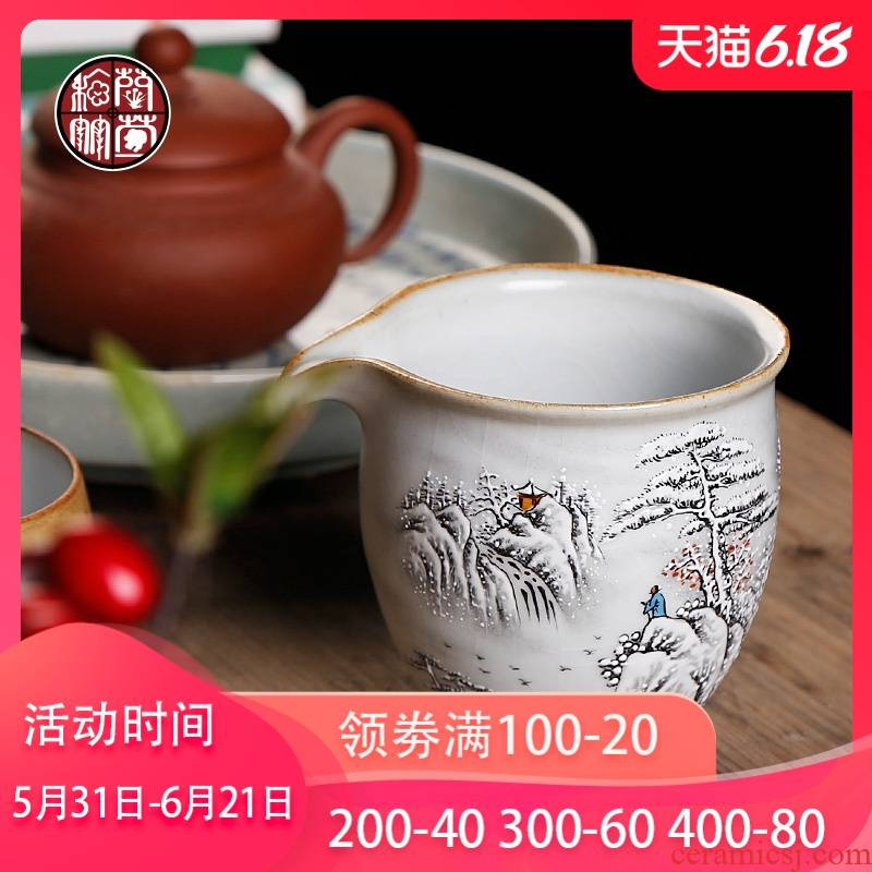 By patterns of hand - made fair snow your up ceramic cups of tea tea set a single and a cup of tea tea household size