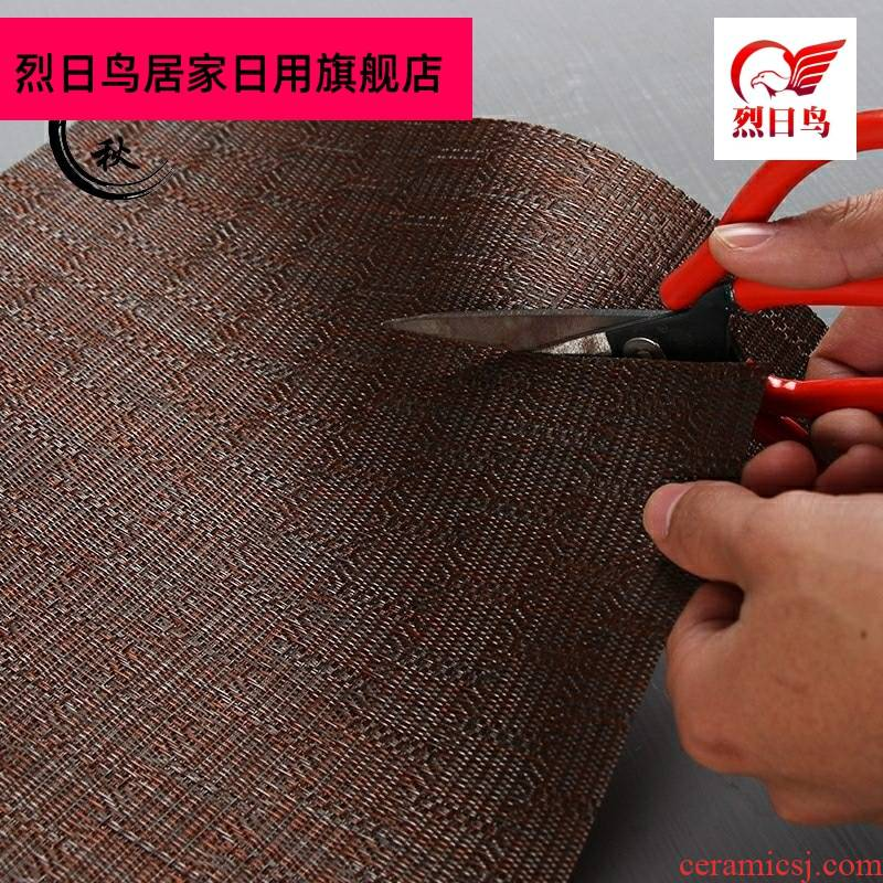 Kunfu tea mat the cane slag zen household bamboo mat bamboo tea shops heat insulation mat bamboo tea table as package mail