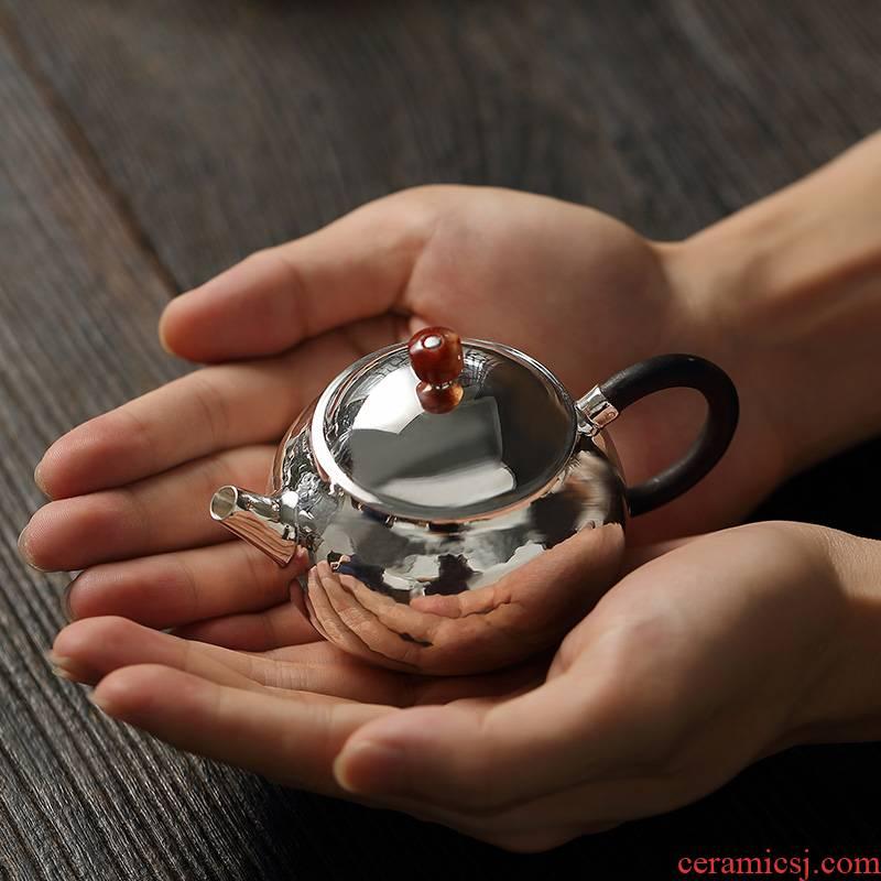 """Xun brother how 】 【 saybot silver pot teapot kettle household manual kung fu tea silver tea set"