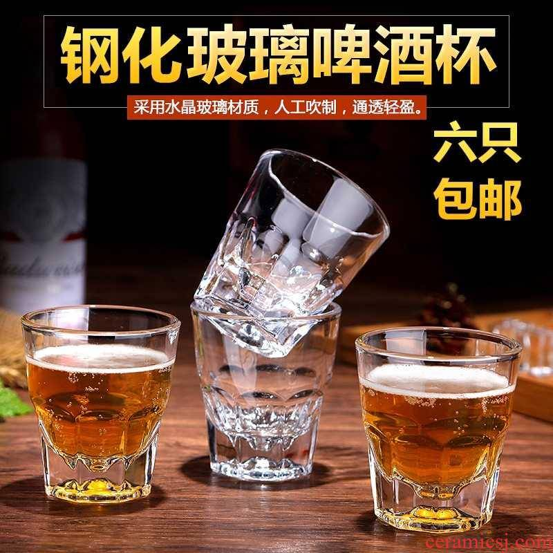 Toughened with thick glass anise transparent water in a glass of whisky a ultimately responds beer cups KTV square cup