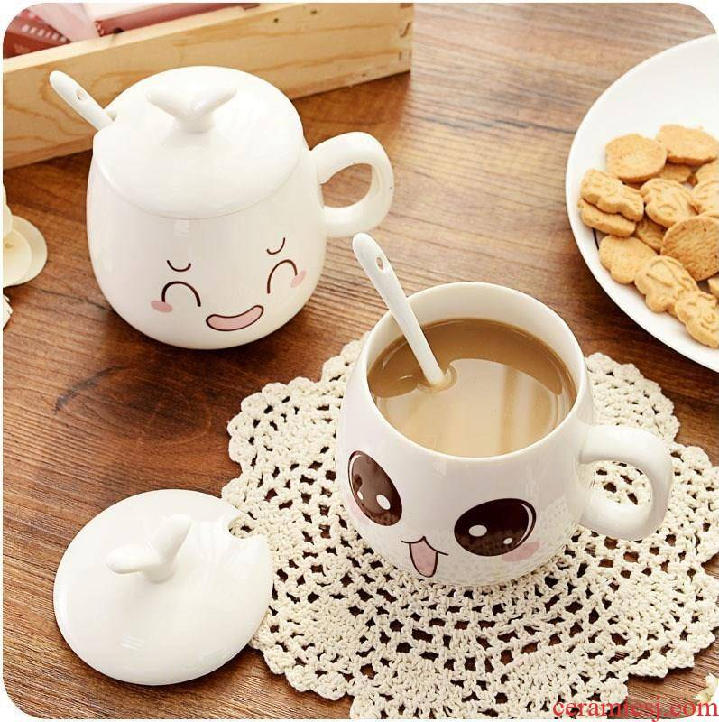 Water cup with a lid spoon, ceramic, lovely home with cover and small children ultimately responds a cup of tea mercifully tea with milk cow.