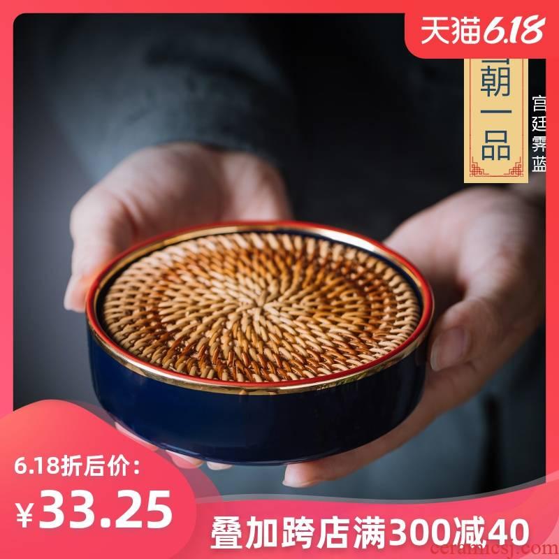 Creative regnant yipin pot pot bearing pot bearing ceramic contracted dry mercifully kung fu tea tea tray of pot dish